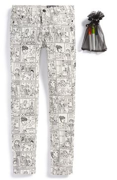 Molo 'Alisa' Cartoon Print Slim Fit Jeans - put your own colors -tween girls clothes