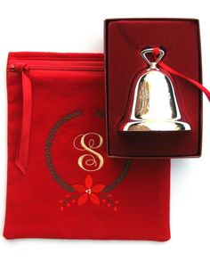 Reed & Barton Christmas Bell, 2014, stored in an anti tarnish silver bag by Sherwood Silver Bags. Find it on Etsy or at SherwoodSilverBags.com. 1
