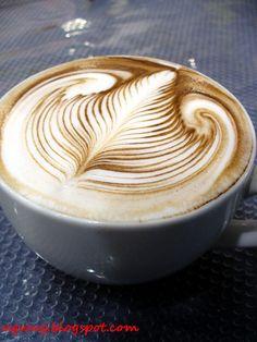 Jack Hanna's Free Pour Latte Art by ugwug, via Flickr  #mrcoffeelatte