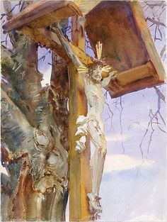 Tyrolese Crucifix 1914 - John Singer Sargent; watercolor and graphite