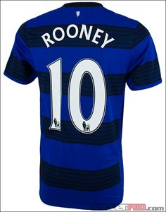 Nike Manchester United Rooney Away Jersey 2011-2012...$72.99