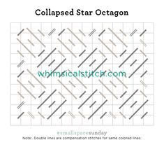 #smallspacesunday Collapsed Star Octagon from December 11, 2016 whimsicalstitch.com/whimsicalwednesdays blog post.