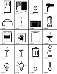 Icons for Home Appliances. Icon Design by Ken Boostrom