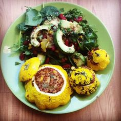 Mexican Style Stuffed Patty Pan Squash Recipe