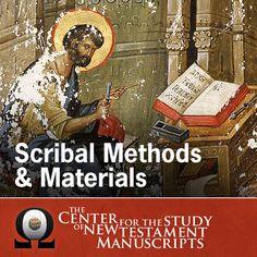Scribal Methods & Materials - Daniel B. Wallace   Classics...: Scribal Methods & Materials - Daniel B. Wallace   Classics… #Classics