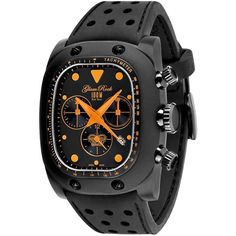GLAM ROCK MEN'S GULFSTREAM BLACK SILICONE BAND SWISS QUARTZ WATCH GR70106 #Casual