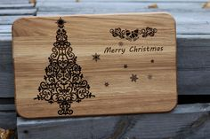 Christmas gift cutting board Unique laser engraved on by Vyroby
