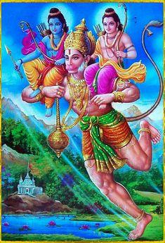 Ram Laxman with Hanuman Hanuman Jayanthi, Wicca, Hanuman Images, Hanuman Pics, Krishna Images, Indian Art Gallery, Lord Hanuman Wallpapers, Lord Shiva Family, Lord Murugan
