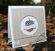 LizDesign Stampin Up Acorny Thank You Card Fall Cards, Winter Cards, Holiday Cards, Note Cards, Thank You Cards, Leaf Cards, Stamping Up Cards, Rubber Stamping, Thanksgiving Cards