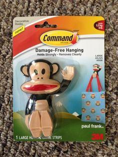 Paul Frank 3m Command Hooks... so cute!
