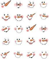 image about Printable Snowman Faces called Pin upon A Printable nail artwork decals