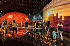 Kunzberg » EXPO 2017 Astana / Kasachstan Hall Design, Science Museum, Museum Exhibition, Ceiling Design, Places To Visit, Design Bedroom, Mars, Showroom, Project Ideas