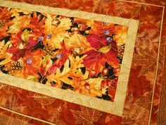 Autumn Leaves Fall Quilted Table Runner by susiquilts on Etsy, $50.00