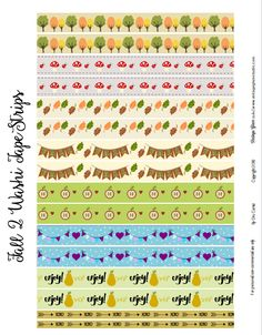 Free fall washi tape planner stickers | For personal use only