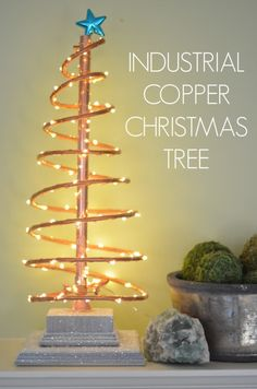 DIY Industrial Copper Christmas Tree - Click for tutorial