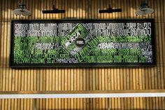 Chalk markers menu for Fidel bar, Sopot, Poland.