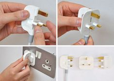 Foldable plug and inbuilt power board - great for carrying power cords with eensy bitty laptops