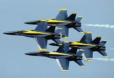 US Navy Blue Angels in diamond formation