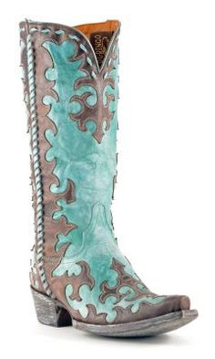 BEAUTIFUL!!!! Womens Old Gringo Widow Maker Cowboy Boots Chocolate And Turquoise #L1414-4 #Cowgirl i WANT THESE FOR CHRISTMAS!!!