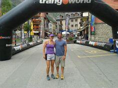 Helena Rodríguez y Damián Saenz, participantes como equipo mixto en el Maratón de las Tucas del Trail Aneto