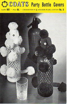 1950s Poodle Party Bottle Cover Crochet pattern