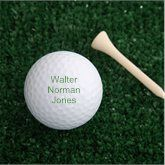 Personalized Nike Mojo Golf Ball Set - Printed with Your Message