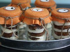 Pumpkin muffins in a jar