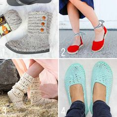 Free crochet patterns with flip flops from Make and Do Crew