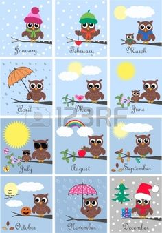 Calendar Royalty Free Cliparts, Vectors, And Stock Illustration. Owl Crafts, Diy And Crafts, Crafts For Kids, Owl Clip Art, Owl Art, Owl Classroom Decor, Classroom Teacher, Kindergarten Classroom, Classroom Ideas