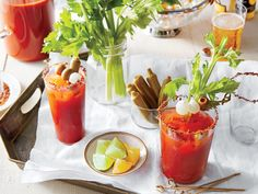 It's Bloody Mary o'clock. We've gathered everything you need to know to set up the perfect Bloody Mary bar. Margarita Punch, Strawberry Margarita, Margarita Recipes, Cocktail Recipes, Strawberry Summer, Strawberry Punch Recipes, Summer Punch Recipes, Strawberry Cocktails, Southern Dishes