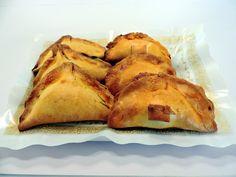 Mini Empanadillas de L¨Art de Sucre de Valencia asociada a nuestra web www.catering.apanymantel.com y con entrega a domicilio a Valencia.