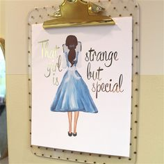 Belle Print - Strange But Special - 8x10 Gold Foil Print - Spiffing Jewelry