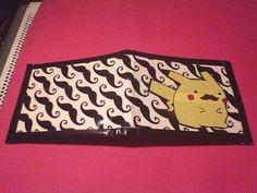 Pokemon Moustache Pikachu Duct tape Wallet horizontal by Catrap0, $14.00