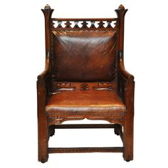 Gothic Chair | From a unique collection of antique and modern armchairs at http://www.1stdibs.com/furniture/seating/armchairs/