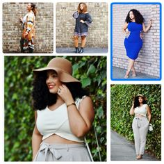 My favorite Plus Size Fashion bloggers right now Top left- Uglyfaceofbeauty, Top right - Gabifresh, Bottom left - Girlwithcurves