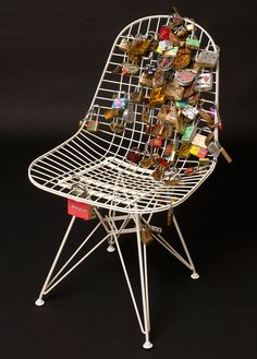 vitra eames wire chair reinterpreted by odile decq, christian louboutin + philippe starck