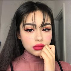 Aesthetic Makeup Looks Blush - Aesthetic Makeup Goals, Makeup Inspo, Makeup Inspiration, Makeup Tips, Beauty Makeup, Eye Makeup, Hair Makeup, Hair Beauty, Cute Makeup Looks