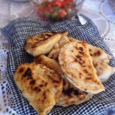 Kade (kahdeh) or Zatila - Kurdish pastry filled with warm feta cheese. the taste is amazing!