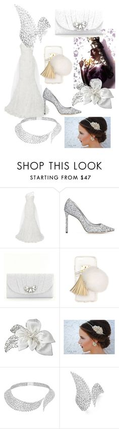 """#WhiteQueen #AnneHathaway"" by cleoismyname ❤ liked on Polyvore featuring Romona Keveža, Jimmy Choo, Kate Landry, Ashlyn'd, Messika, contestentry and DisneyAlice"
