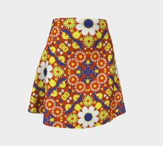 "Flare Skirt ""Flower Power"" by Juca's Store"