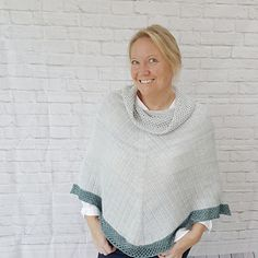Receive Discount off matching Boardwalk Stroll Mitts when you purchase this Boardwalk Stroll poncho pattern. Vaild until midnight Halloween GMT. Fingering Yarn, Knitted Poncho, Ravelry, Shawl, How To Make, How To Wear, Crochet, Turtle Neck, Pullover