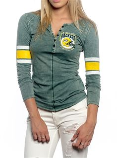 Green Bay Packers Womens Vintage Raglan Top 569528cbe