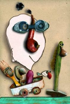History Of Illustration, Graphic Design Illustration, Illustration Art, Alsace France, Found Object Art, Foto Art, Assemblage Art, Recycled Art, Stop Motion