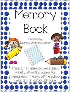 As the school year winds down it is nice to have students reflect on their year!  This memory book includes a cover page and writing pages that will provide students with a way to think back on their year and write about some of their favorite memories.