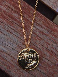 Gold California Girl Necklace