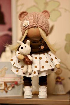 Купить Кукла ручной работы - коричневый, кукла ручной работы, кукла, кукла в подарок