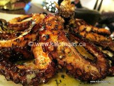The Greek way of cooking an Octopus!  Braising the octopus to tenderize, then grilling.