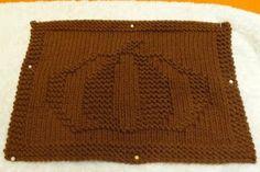 Pumpkin dishcloth ~ free pattern