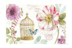 Rainbow Seeds Floral Birdcage I Láminas por Lisa Audit en AllPosters.es