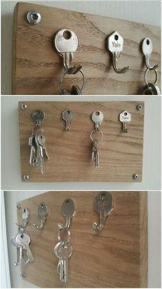 Zelfgemaakt sleutelrekje